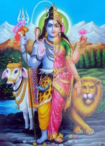 Двуполое божество Шивы Ардханаришвара